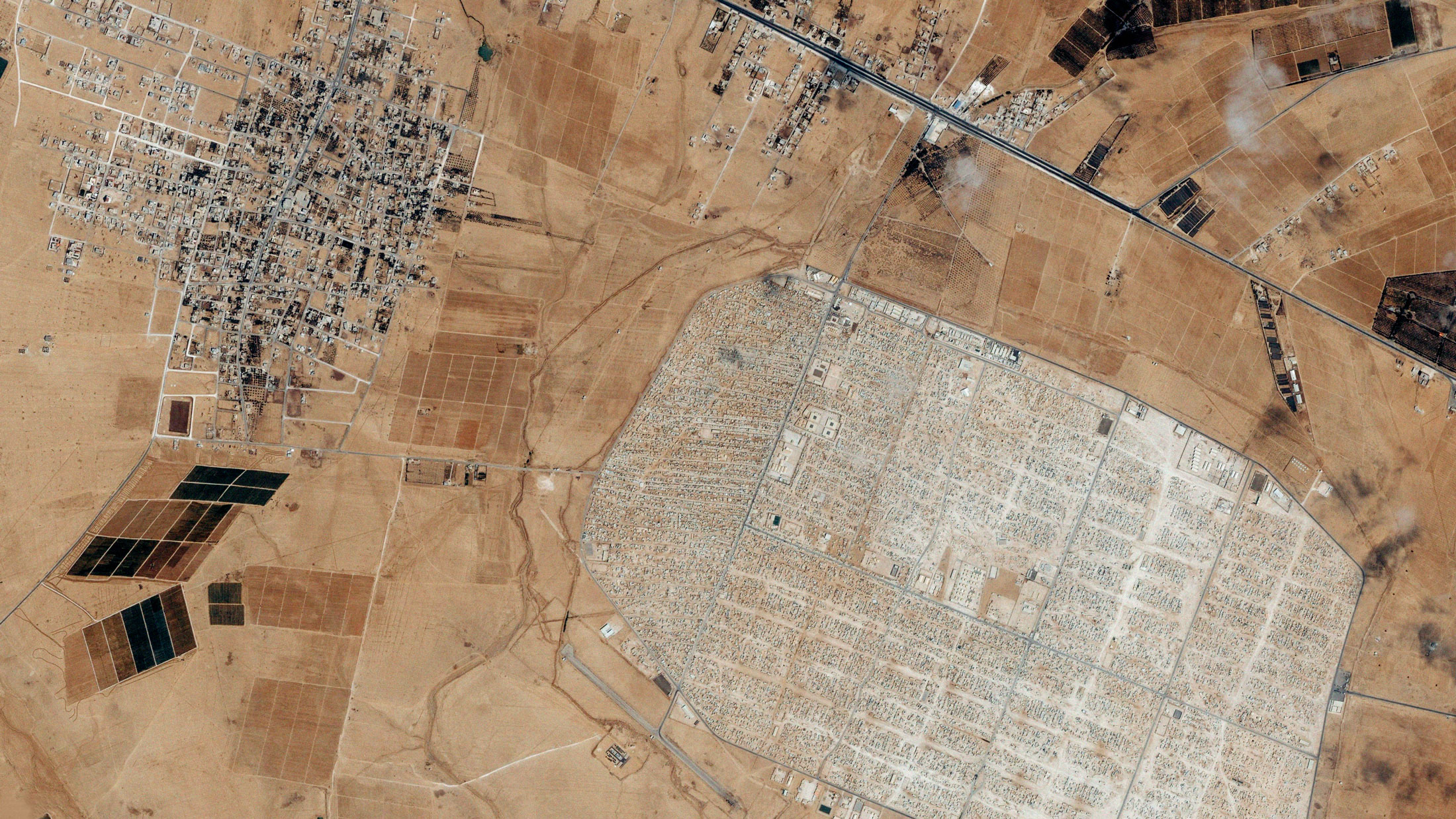 Zaatri refugee camp in Jordan